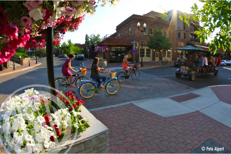 Downtown Bend in motion. (Pete Alport)